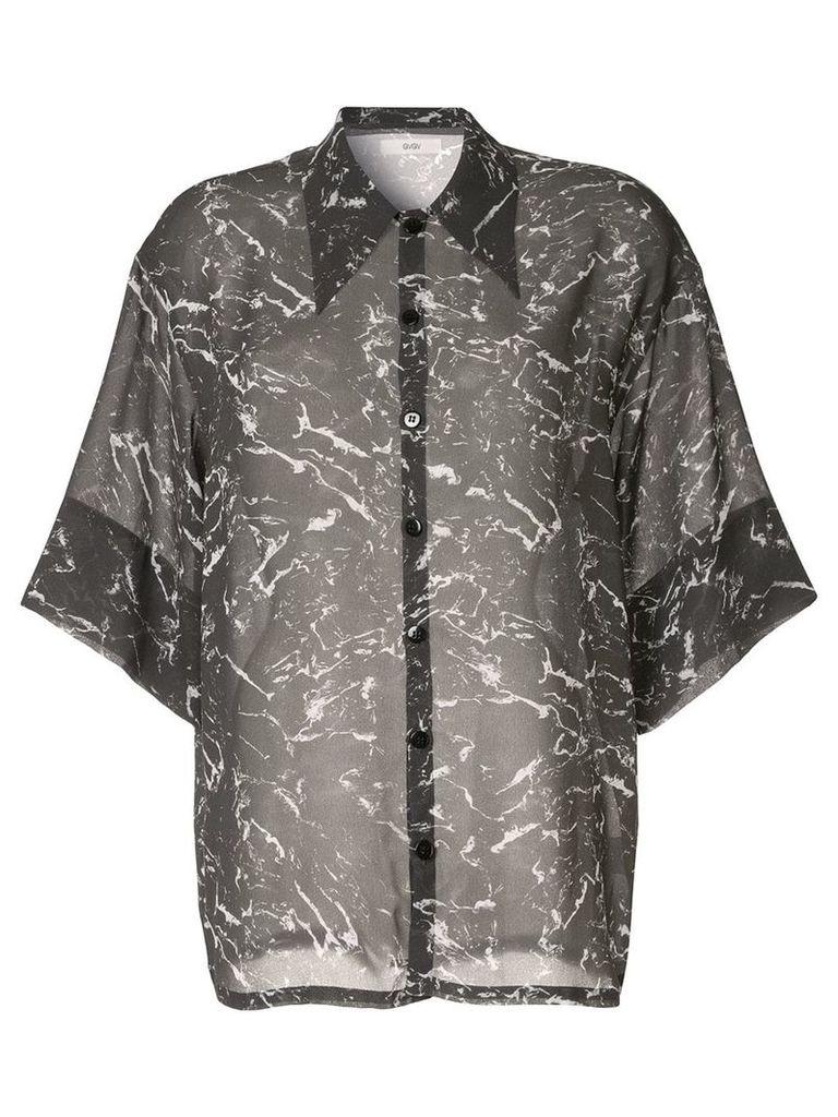G.V.G.V. marble chiffon blouse - Grey