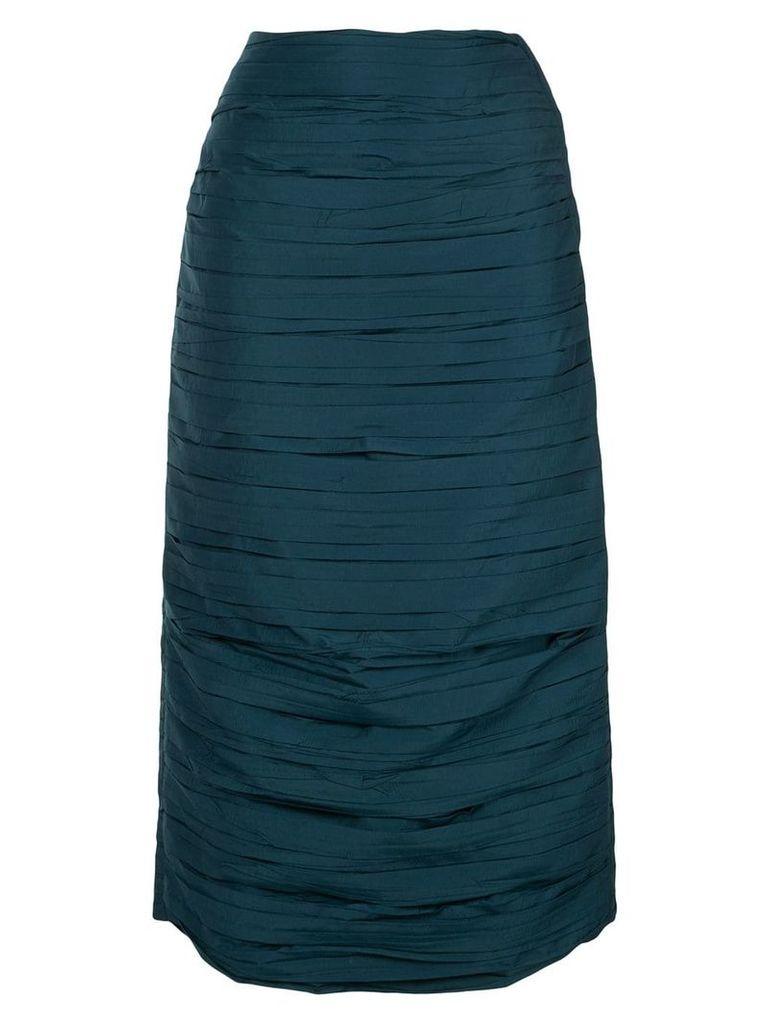 Irene pleated midi skirt - Green