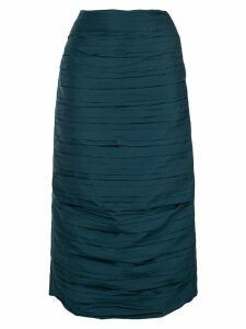 Irene pleated midi skirt - Green