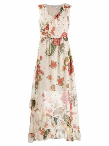 Liu Jo floral ruffle dress - Neutrals