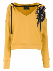 Andrea Bogosian embroidered sweatshirt - Yellow