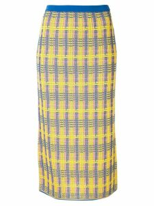 Le Ciel Bleu check knit skirt - Yellow