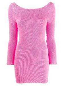 Reina Olga fitted scoop back dress - Pink