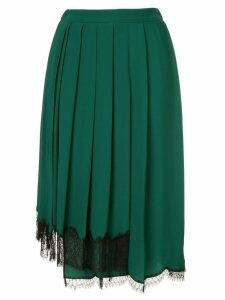 Nº21 asymmetric hem skirt - Green