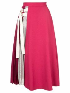Guild Prime pleated detail flared skirt