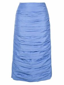 Irene pleated midi skirt - Blue