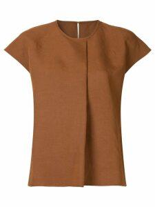 Ballsey front pleat blouse - Brown