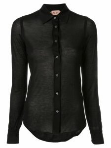 Nº21 sheer shirt - Black
