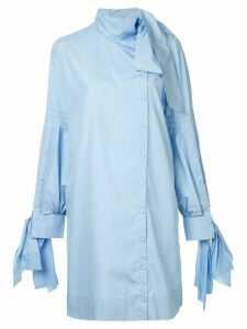 Nº21 asymmetrical shirt dress - Blue
