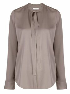 The Row tie a neck blouse - Grey