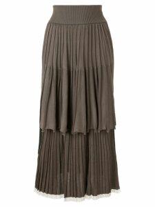 Sonia Rykiel layered skirt - Brown