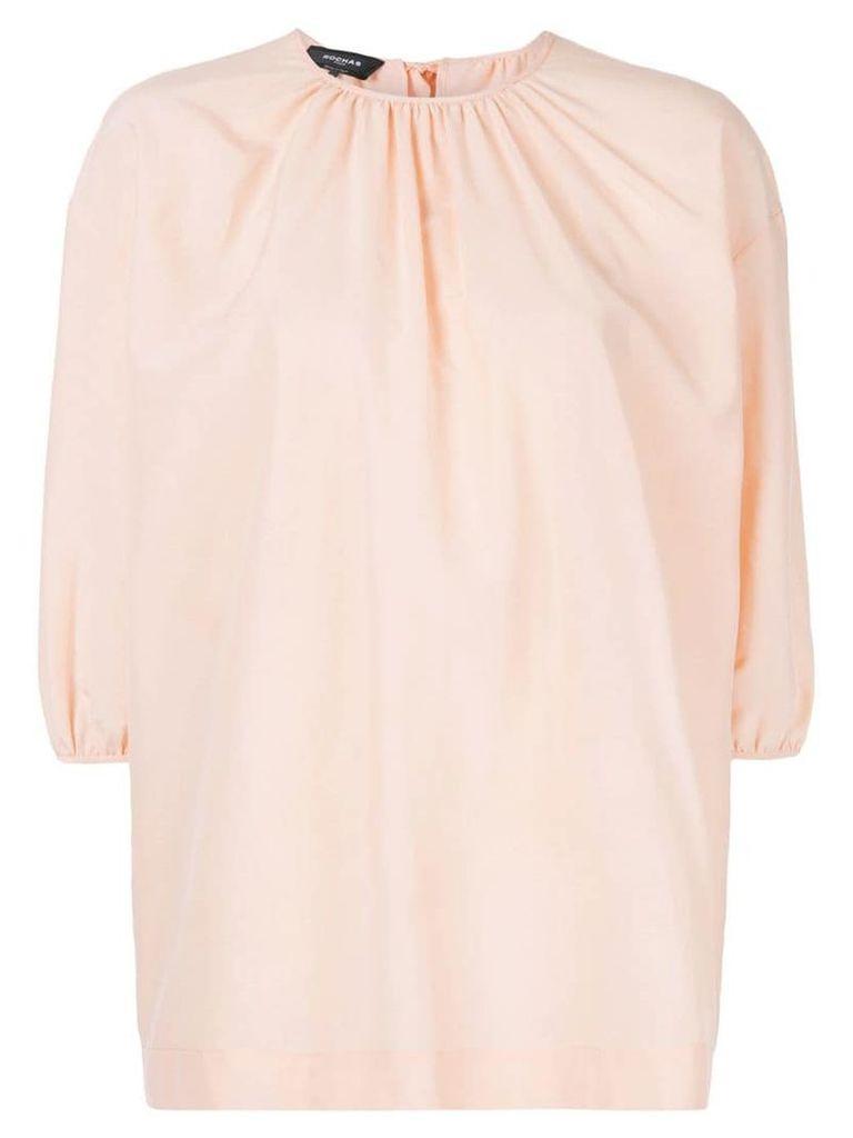 Rochas billowing top - Pink
