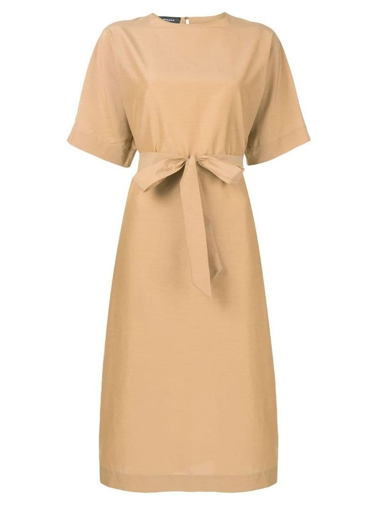 Rochas midi dress - Brown