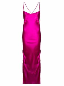 Galvan gathered evening gown - Pink