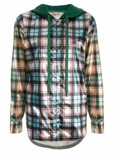 Nº21 check hooded jacket - Green