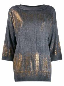 Snobby Sheep metallic sweater - Blue