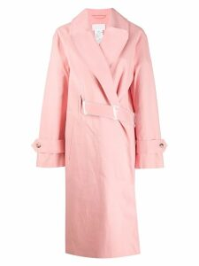 Mackintosh MAISON MARGIELA Pink Bonded Cotton Single Breasted Trench