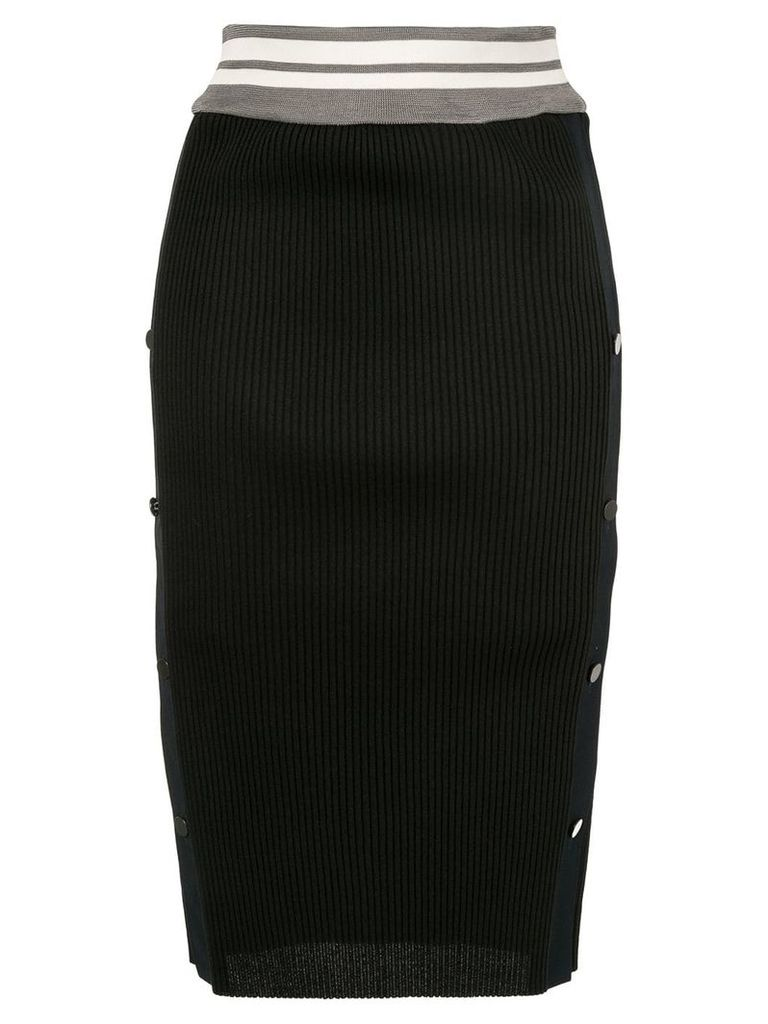 Ujoh ribbed skirt - Black