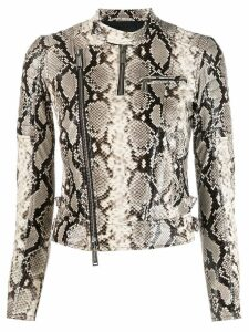 Dsquared2 snakeskin-effect jacket - Grey