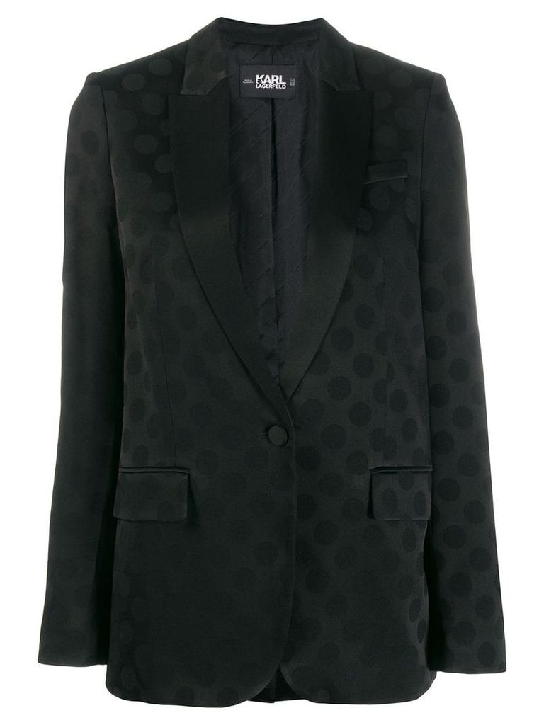 Karl Lagerfeld Karl dots tailored blazer - Black