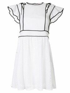 Red Valentino netted mini dress - White