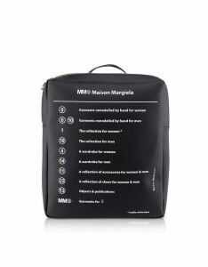 MM6 Maison Martin Margiela Designer Handbags, Black Square Signature Backpack