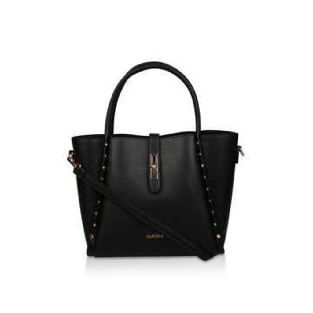 Carvela Char Studded Shopper - Black Studded Tote Bag
