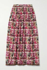 Reformation - Mia Leopard-print Georgette Midi Skirt - Leopard print