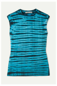 AGOLDE - Tie-dyed Cotton-jersey Tank - Blue