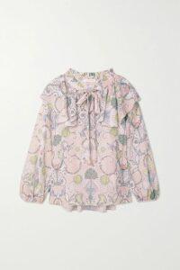 Reformation - Surrey Lace-trimmed Georgette Midi Dress - Black