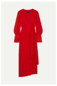 Mother of Pearl - + Net Sustain Velda Fringed Lyocell Wrap Dress - Red