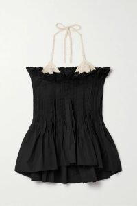Roland Mouret - Bracknell Asymmetric Wool-crepe Peplum Top - Red