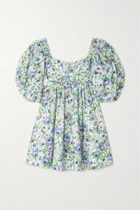 The Line By K - Flynn Crinkled-satin Mini Dress - Yellow