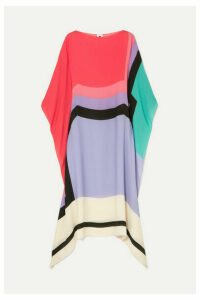 Louisa Parris - Noe Printed Silk Dress - Lilac