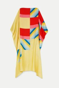 Louisa Parris - Apollo Printed Silk-twill Dress - Yellow