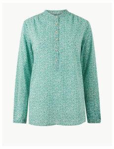 Per Una Pure Cotton Floral Print Blouse