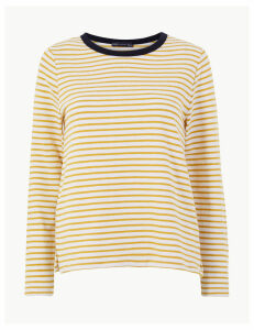 M&S Collection Pure Cotton Striped Regular Fit Sweatshirt