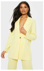Lemon Oversized Boyfriend Blazer, Lemon
