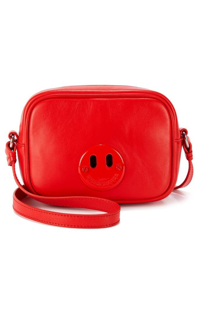 Hill & Friends Happy Mini Camera Bag In Red