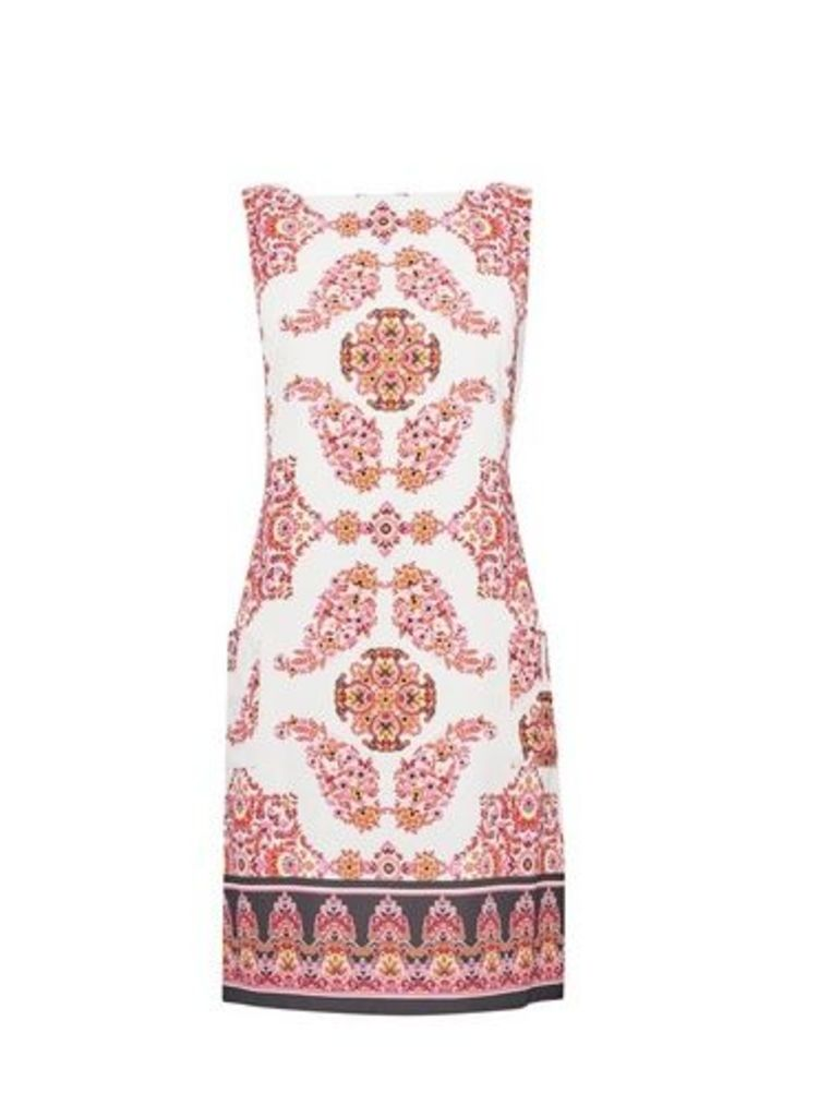 Womens **Billie & Blossom Multi Colour Paisley Print Shift Dress- Pink, Pink
