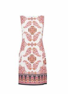 Womens **Billie & Blossom Paisley Print Shift Dress- Pink, Pink