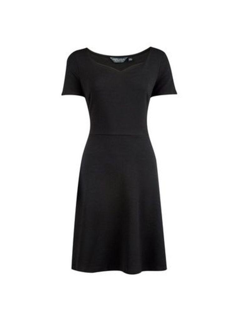 Womens **Tall Black Sweetheart Neckline Dress- Black, Black