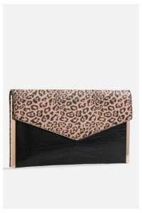 Womens **Faux Leather Leopard Print Bag By Koko Couture - Multi, Multi