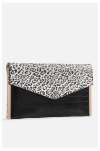 Womens **Faux Leather Leopard Bag By Koko Couture - Multi, Multi