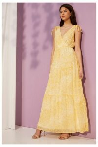 Womens Vila Sleeveless Maxi Dress -  Yellow