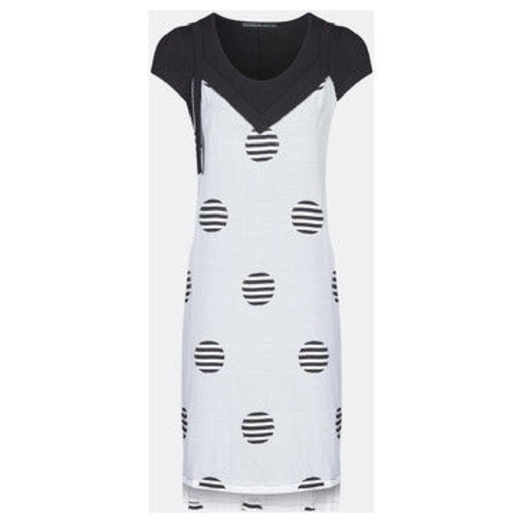 Mado Et Les Autres  Polka Dot Print Dress  women's Dress in White
