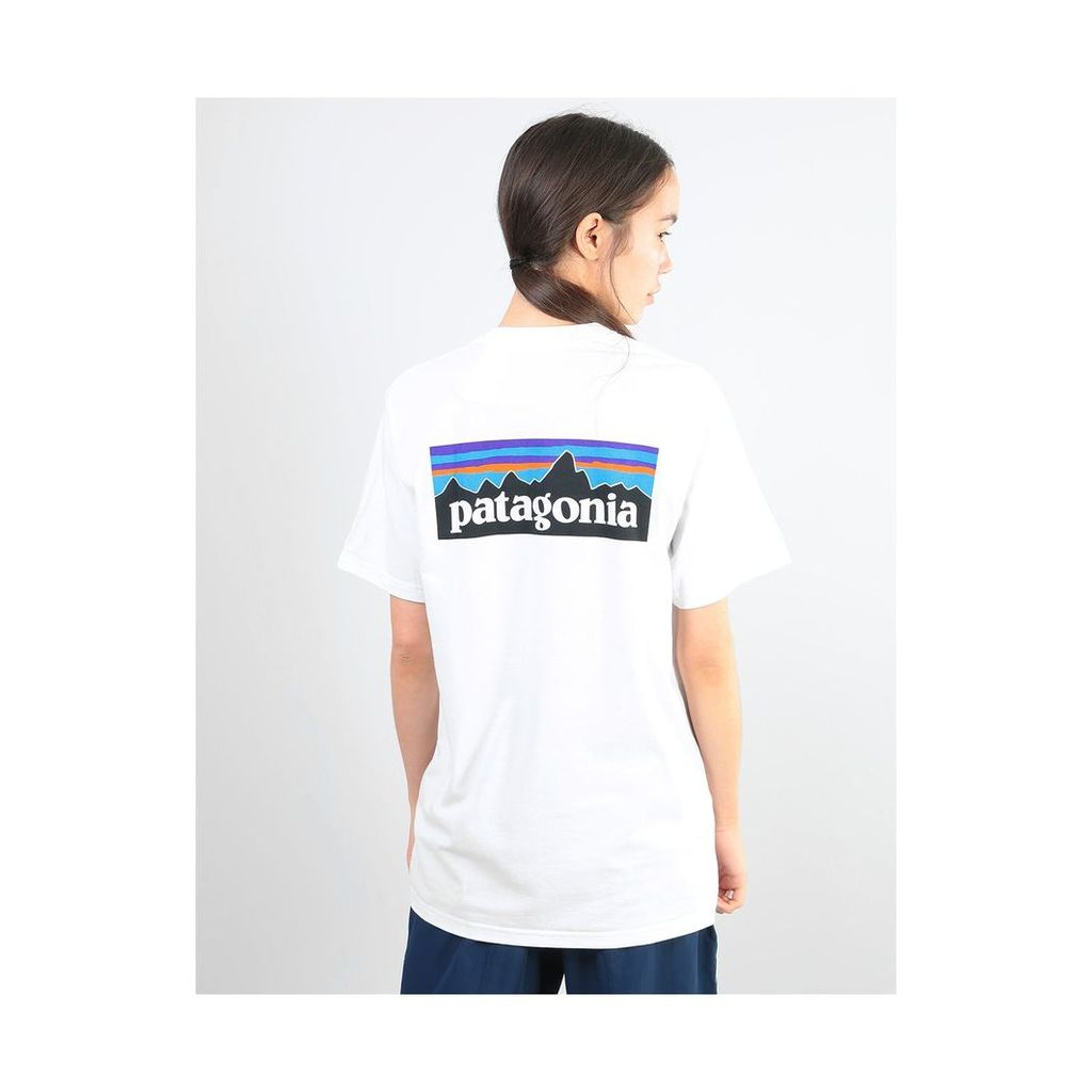 Patagonia Womens P-6 Logo Oversized T-Shirt - White (L)