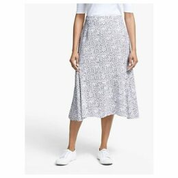Collection WEEKEND by John Lewis Leopard Print Midi Skirt, White/Black