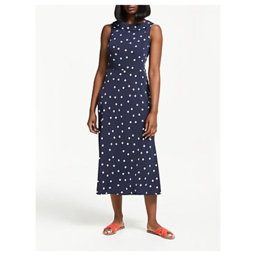 Boden Clarissa Midi Dress, Navy/Ivory