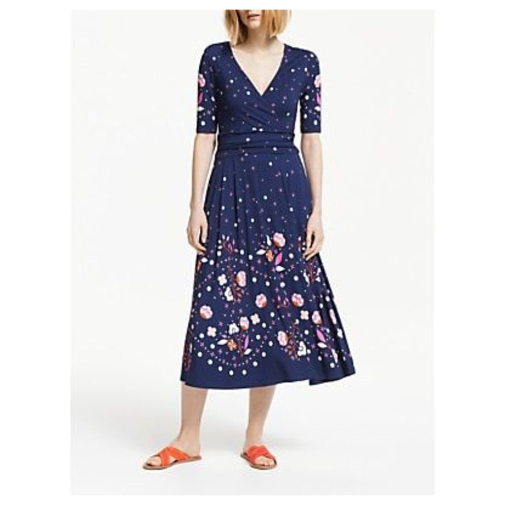 Boden Kassidy Jersey Midi Dress, Navy/Multi